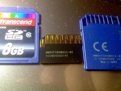 Монолитная карта памяти SD