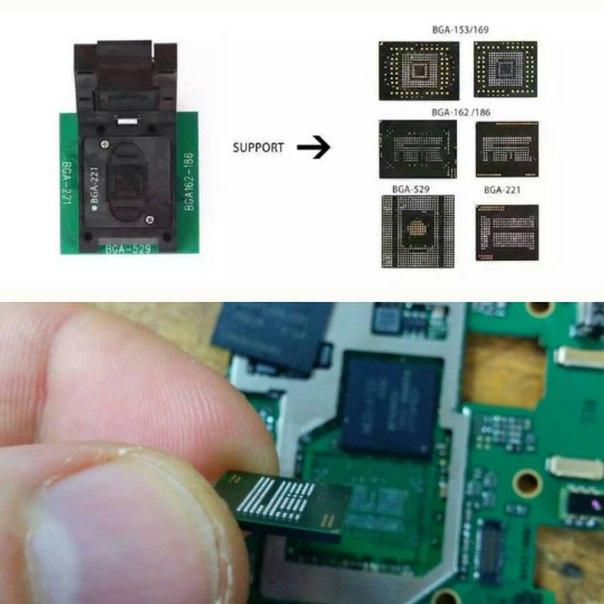 Замена EMMC памяти на телефоне